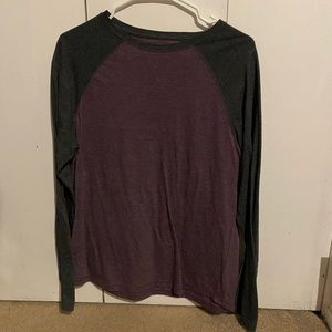 Urban Pipeline Purple grey long sleeve shirt
